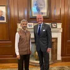 Governor met the Minister of External Affairs , Govt of India.