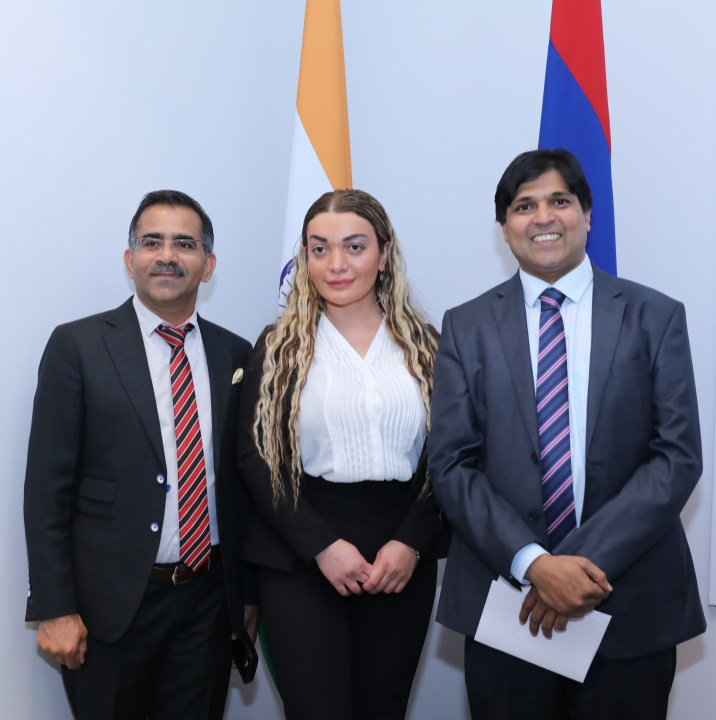 Georgia Representation of IETO with Indian Ambassador in Armenia