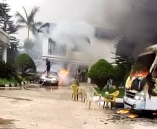 BREAKING: Hope Uzodinma's House On Fire