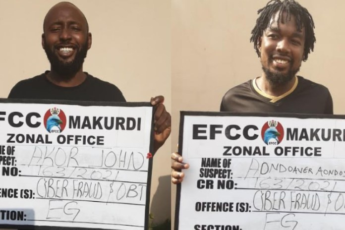 Yahoo Boys Received A Jail Term While Grinning