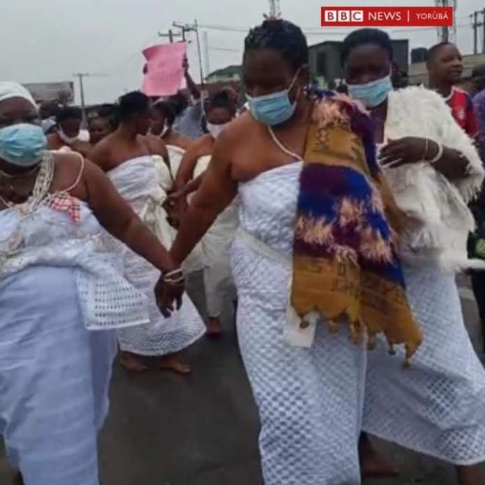 Yoruba Nation Rally Defies Buhari's Threats Marches in Lagos