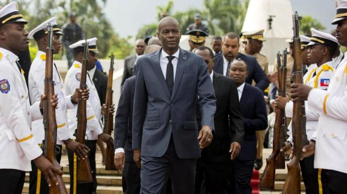 Haiti's President Jovenel Moise, centre, was killed early Wednesday. (Image: AP)