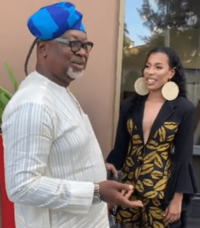 Watch As Nini Meets To Be 'Father In - Law' Saga's Dad (Video)