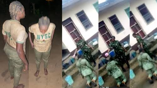 Female Soldier Arested By Military Police For Dehumanizing A Female Corper
