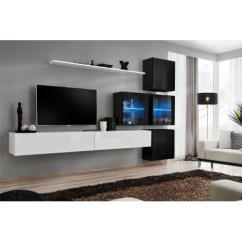 White Gloss Living Room Furniture How Decorate Modern Wall Tv Display Unit High Switch Xix Free P Ws