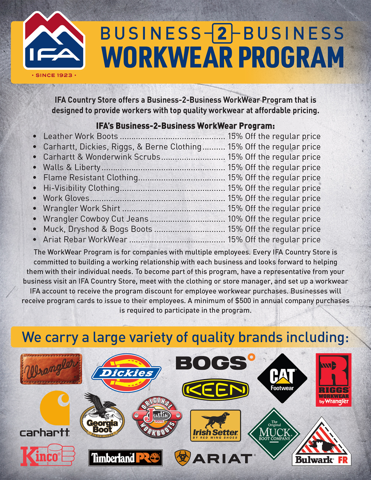 Good for Business: IFA's B2B Workwear Program - IFA Country Stores