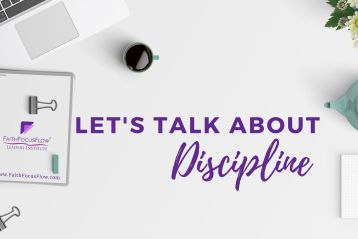 Discipline. Do you have it?   Faith Focus Flow International
