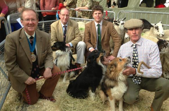 From left: Bill Clark, Master of the Worshipful Company of Woolmen; Howard Venters, Liveryman of the Farmers and Woolmen companies; Adrian Bell, Liveryman of the Farmers Company; and David Seamark, who provided the sheep for the day.