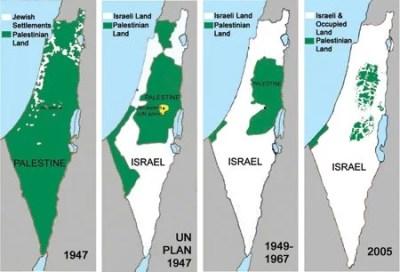 four maps of shrinking Palestine