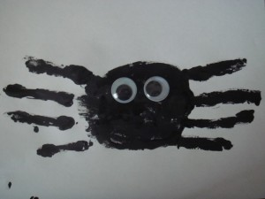 Spider Handprint creative halloween craft ideas