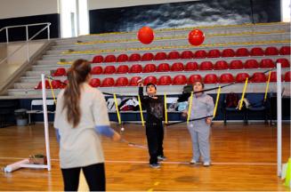Children playing ball