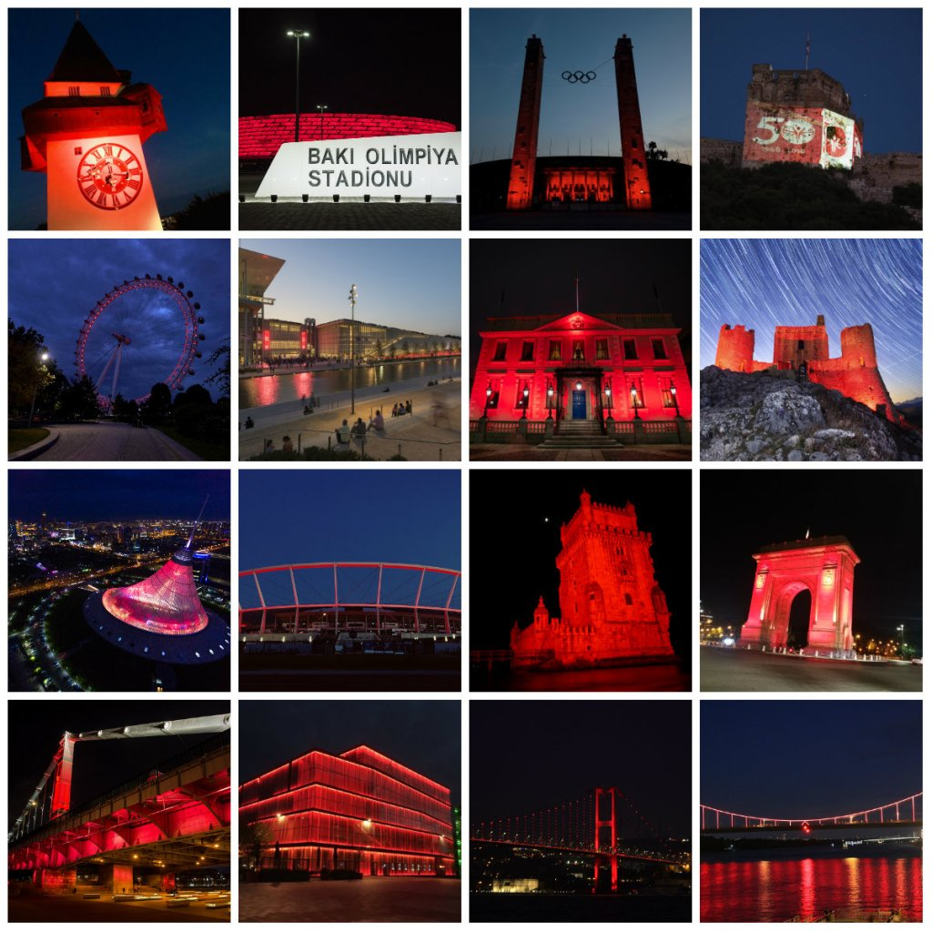 Special Olympics Cities in Red