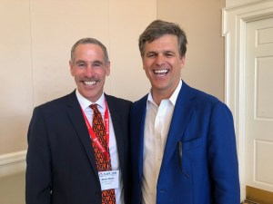 Martin Block with Keynote Speaker Tim Shriver