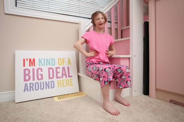 Image #: 40560838    *** EXCLUSIVE - VIDEO AVAILABLE *** KITCHENER, ONTARIO - OCTOBER 2015: Kenadie Jourdin-Bromley poses inside her home in Kitchener Ontario in October 2015.  AT TWELVE years old tiny Kenadie Jourdin-Bromley stands at just 39.5 inches tall and weighs the same as a two year old. The bubbly schoolgirl has defied doctors since the day she was born weighing just 2.5lbs and 11 inches from head to toe. Kenadie's mum, Brianne Jourdin, 36, was told her daughter wouldn't survive more than a few days. However, despite having learning difficulties and fragile, thin bones - Kenadie plays hockey, swims, and functions in school.  Ruaridh Connellan/Barcroft Media /Landov