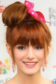cute messy bun hairstyles 2013