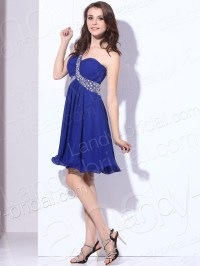 short blue bridesmaid dresses 2013