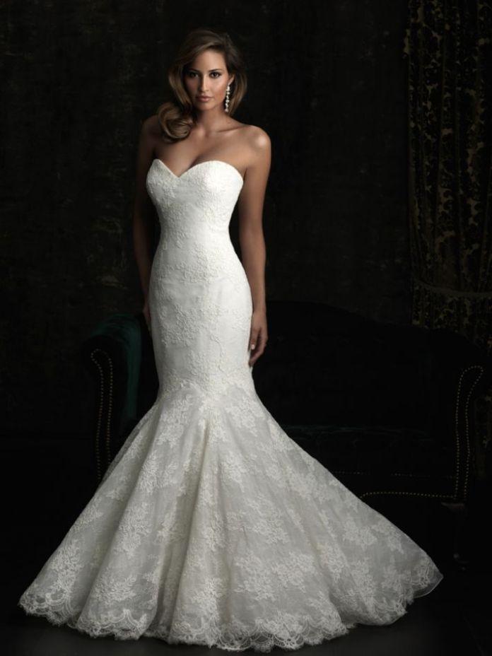 hourglass wedding dress