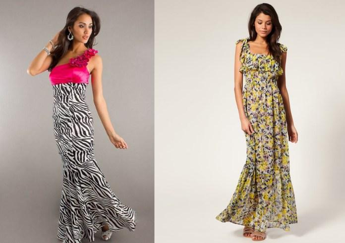 long pattern dress for women