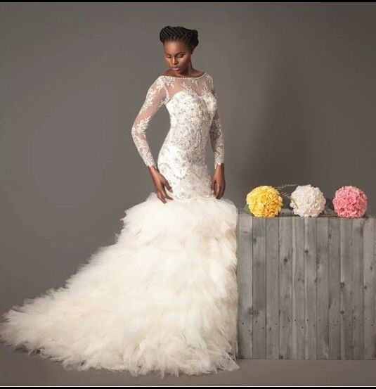 Pistis Layered Wedding Dress
