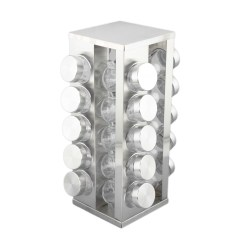 Revolving Spice Racks For Kitchen How Much Is An Ikea Stainless Steel Square Tower Rack