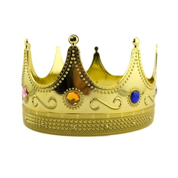 Plastic King Crown Gold