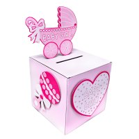 BabyShower Wishing well card, gift or money box BOY/GIRL
