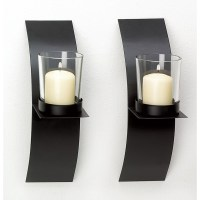Modern Art Candle Holder Wall Sconce Display Black Wire