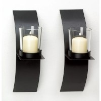 Modern Art Candle Holder Wall Sconce Display Black Wire ...