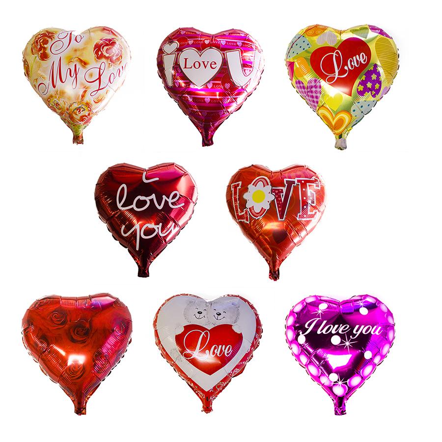 18 Valentines Day Heart Shaped Helium Foil Orange Balloon