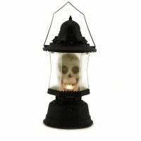 LED Skull Lantern Music Sounds Light up Scary Skeleton ...