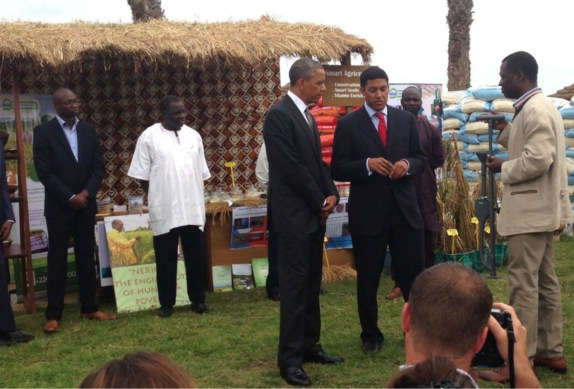 2013 - In Senegal, U.S. President Barack Obama promotes FDP and other agricultural technologies