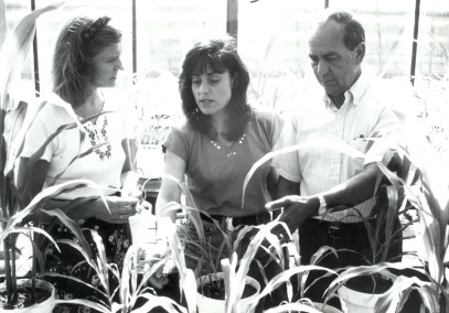 1996 - Visiting scientists from Russia and Syria study phosphate rock