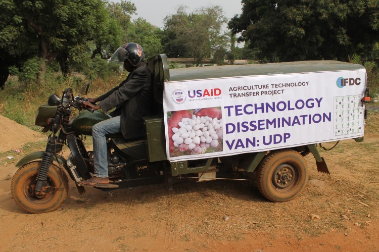 The Technology Dissemination Van takes videos into farming