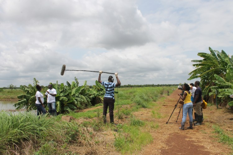 Modern African Productions team shoots an episode of Kuapa.