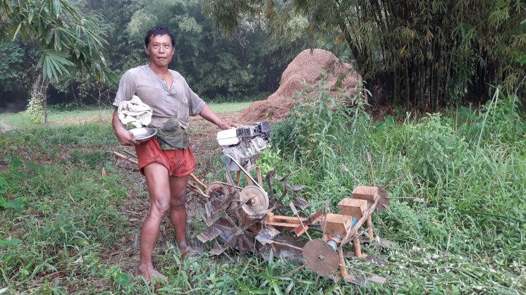U Than Oo is a farmer skilled at mechanical engineering.