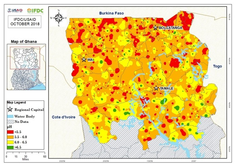 soil ph map in Ghana