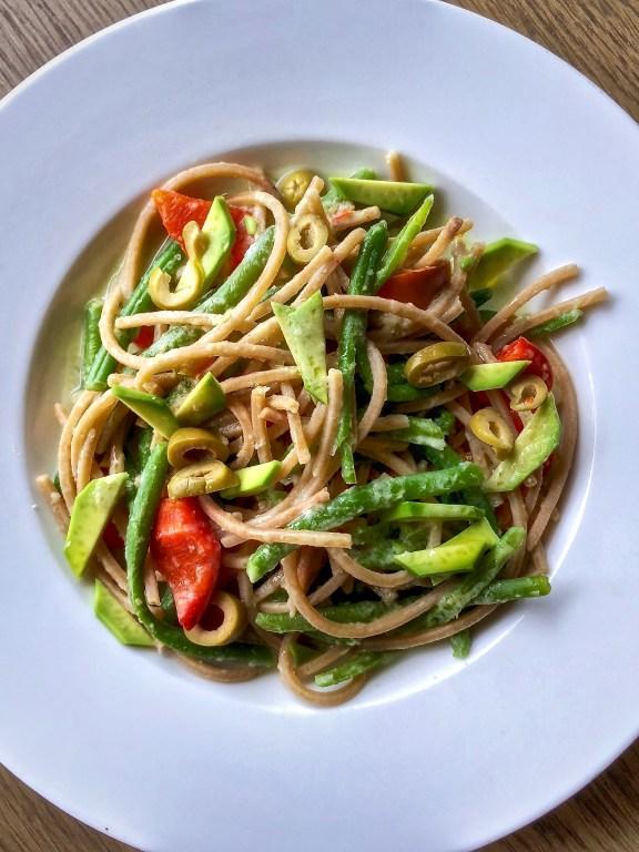 Spaghetti italiani in salsa mex