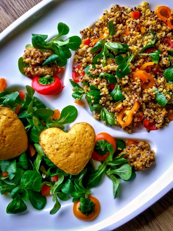 Inslata di lupini e quinoa con le Camille salate