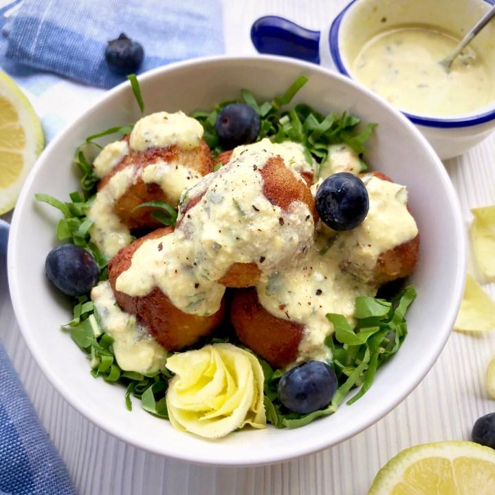 Polpettine veg in salsa cremolata al limone