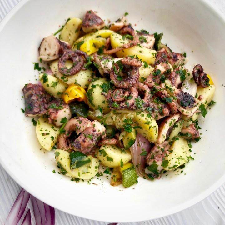Polpo patate e verdure