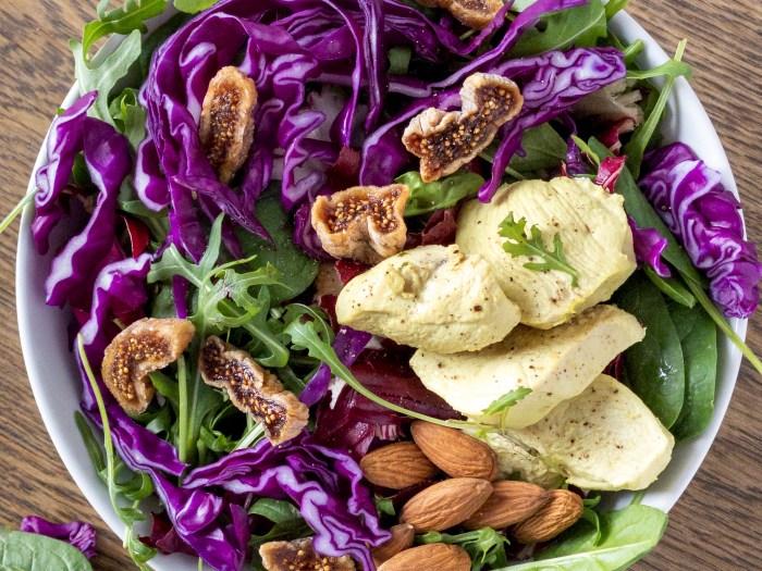 insalata colorata di cavolo viola