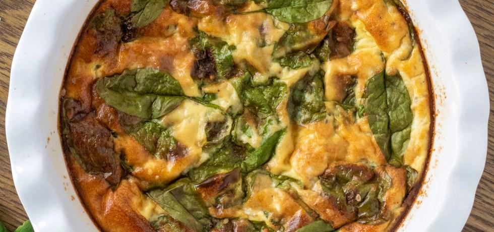 tortino di uova spinaci e mozzarella