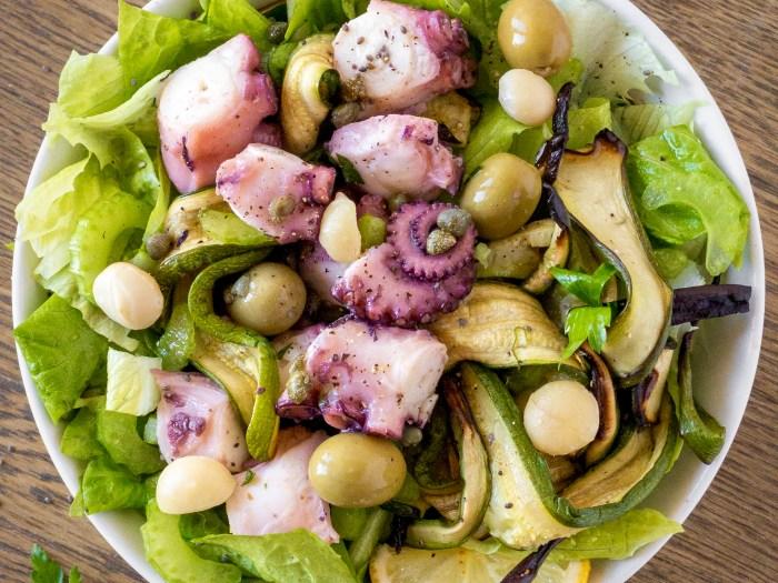 insalata di polpo sedano capperi e olive