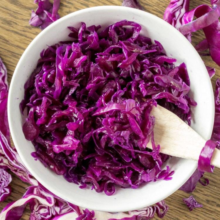 Crauti viola fermentati homemade