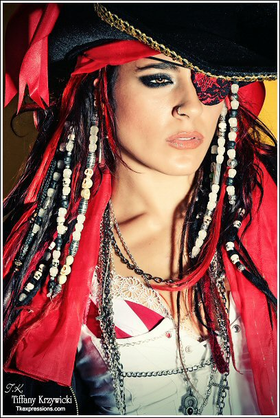 Cara Maria Sorbello In Red With Pirate Dreads