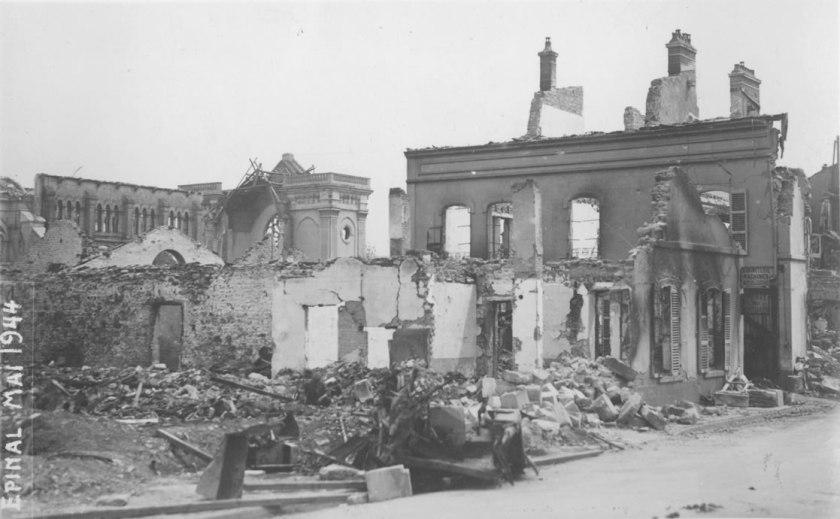 destruction of Epinal in 1944