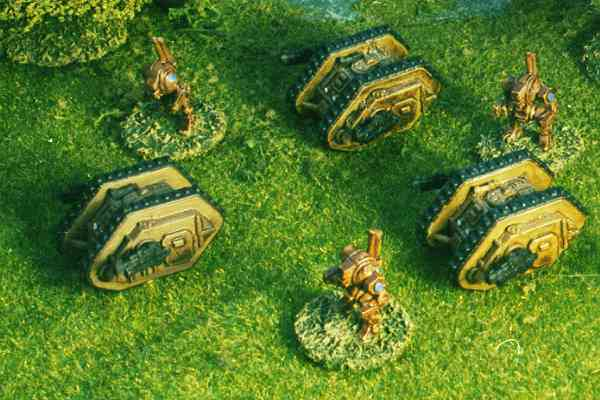 Old style Land Raiders and Dreadnoughts.
