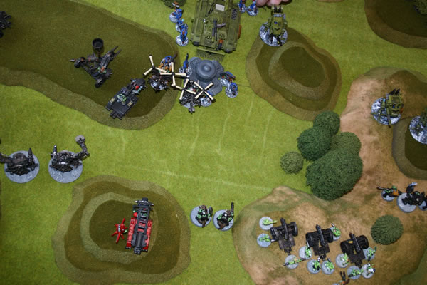 Aerial View of my latest game of Warhammer 40K...