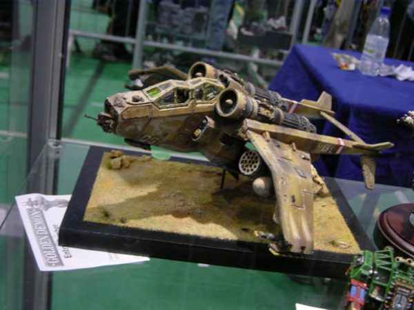 A Forge World Valkyrie which was entered into the 2003 Golden Demon awards.