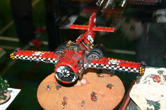 Scratch-built Ork Bommer which was entered into the Golden Demon awards, note the use of Epic miniatures on the base.